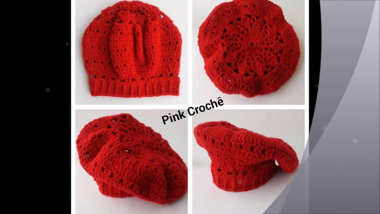 Linha Adulto - Boina Gorro e Cachecol em crochê e tricô - modelos - YouTube 894b25a8df5