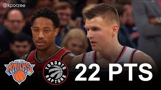 Kristaps Porzingis Full Highlights 2017.11.22 vs Raptors - 22 Pts, 12 Reb, 3 Blk