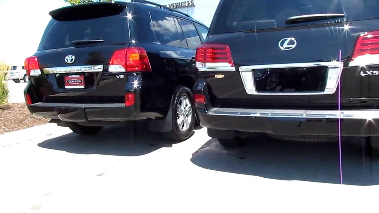 2013 toyota landcruiser vs 2013 lexus lx 570 exterior. Black Bedroom Furniture Sets. Home Design Ideas