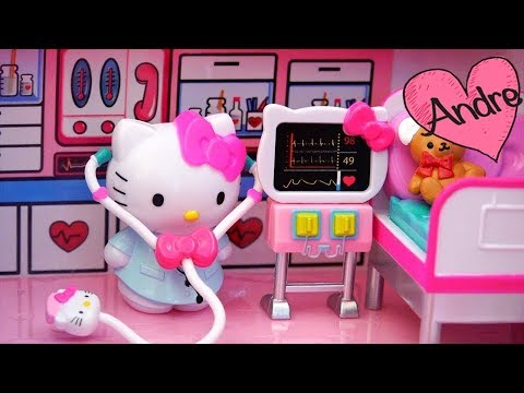 Avión de juguete y ambulancia Hello Kitty para niñas - Kitty va a viajar pero Bear se accidenta