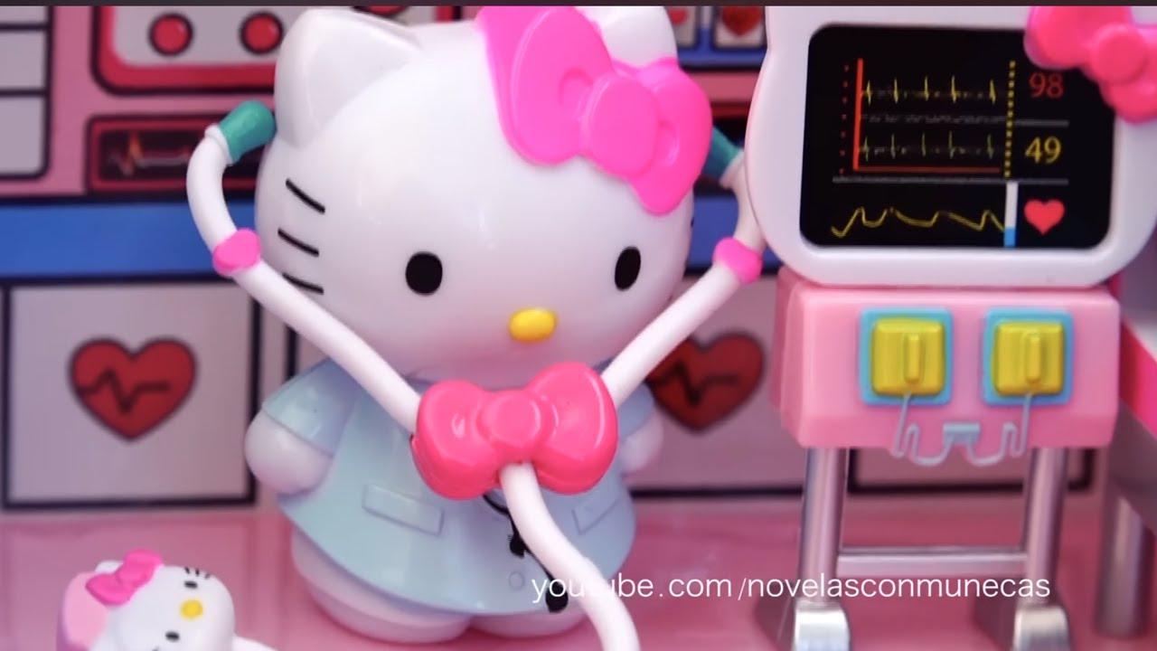 Avión Ambulancia Y Hospital Hello Kitty Jugando Muñecas Y Juguetes Con Andre Para Niñas Y Niños