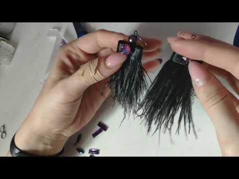 Вечерние сережки перья своими руками \ Мастер класс \ DIY Earrings Feathers