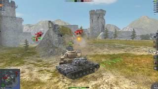 WoT Blitz Leopard 1 6.6K 6 kills defeat