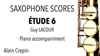 ÉTUDE 6 – Guy LACOUR – Piano accompaniment