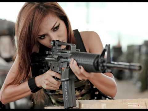 Top Military -- Girl with Gun ! - YouTube