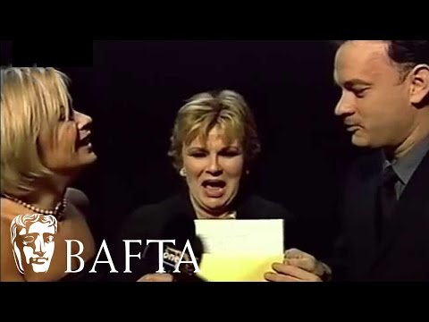 Julie Walters and Tom Hanks Backstage in 2001