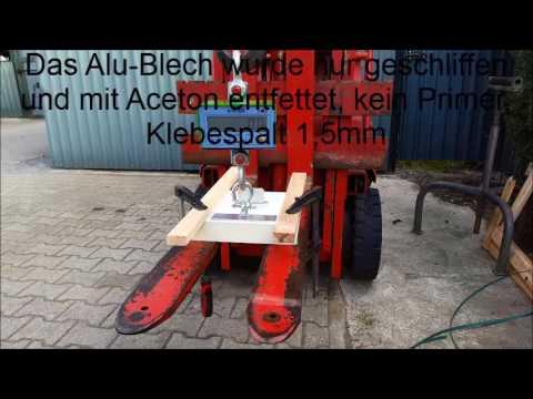 Klebeversuch Sika 221 Alu Blech Youtube