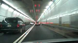 Driving through the Holland Tunnel in NYC
