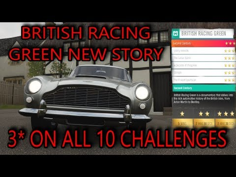 Forza Horizon 4 - British Racing Green Story   3 Stars In ALL 10 Chapters (GUIDE)