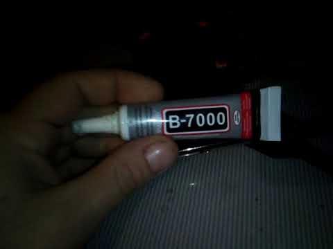 обзор прищепки и клей В-7000 для сенсора