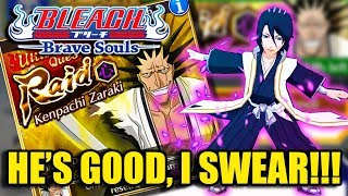 Bleach Brave Souls (Gameplay):  Kenpachi Raid Speed Run with FB Byakuya!