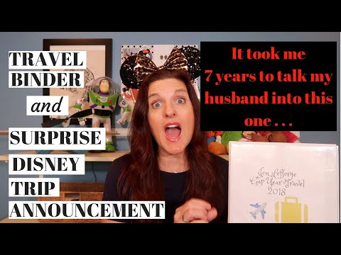 My Travel Binder and Disney Trip Announcement!