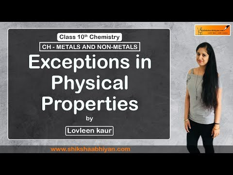 Exceptions In Physical Properties
