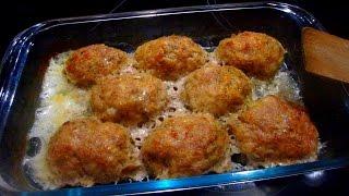 Вкусные КОТЛЕТЫ в духовке(с подливкой)