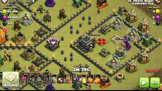 kutek clash of clans - th9 jak atakować hogami th9, low level heroes goho