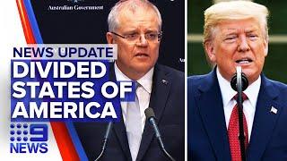 Military will be deployed to stop riots, Donald Trump calls Scott Morrison | Nine News Australia