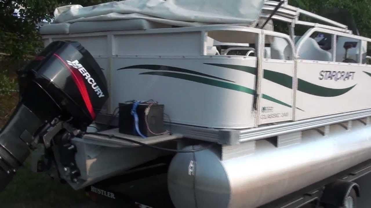 For sale 2005 starcraft 24ft pontoon boat mercury motor for Pontoon boat without motor for sale