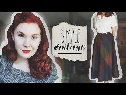 """Simple Vintage"" Tips! || Retro Style for Work, School, Beginners"
