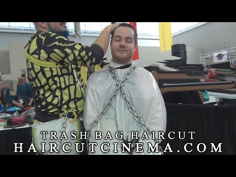 HaircutCinema.com - Trash Bag Haircut (Preview) from YouTube · Duration:  2 minutes 39 seconds