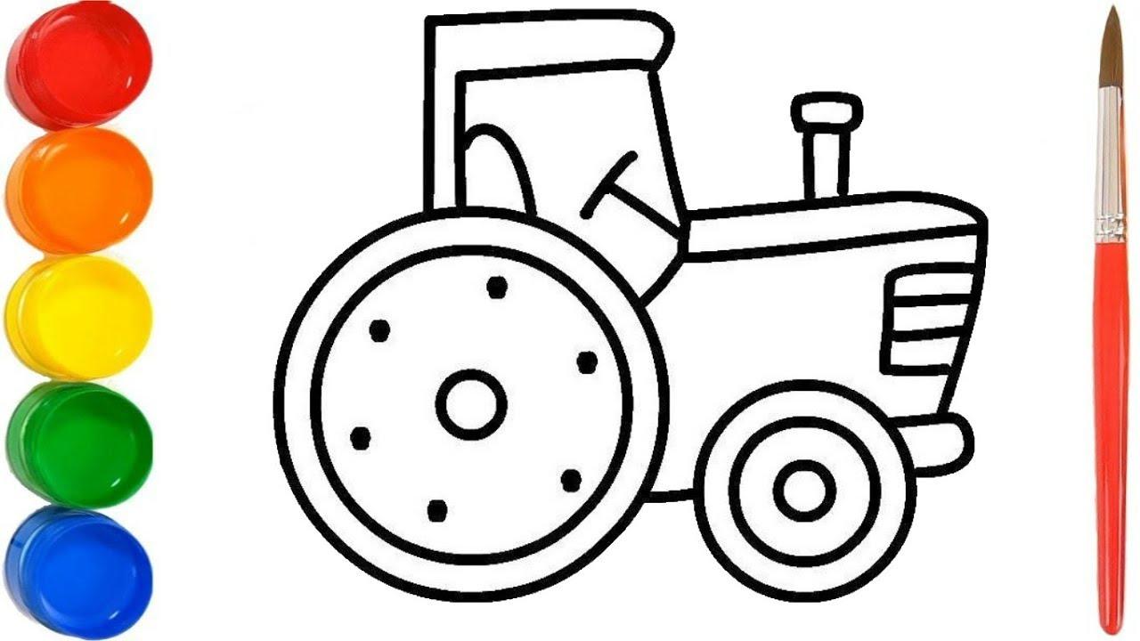 wie zeichnet man traktor  malvorlagen für kinder traktor