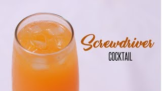How To Make A Screwdriver Cocktail by Cooking Simplified