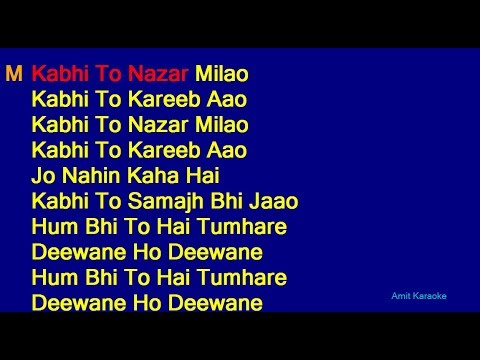 Kabhi To Nazar Milao - Adnan Sami Asha Bhosle Duet Hindi Full Karaoke with Lyrics