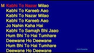 Kabhi To Nazar Milao - Adnan Sami Asha Bhosle Duet Hindi Full Karaoke with Lyrics