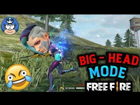 FREE FIRE - Funny Big Head mode || know it bro !