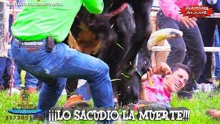 ¡¡¡LO SACUDIÓ LA MUERTE!!! ¿CÓMO SALIÓ ESTE JINETE DE ENTRE LOS CUERNOS DEL TORO RANCHO EN AGUAJE EN