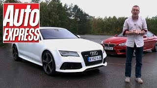 BMW M6 Gran Coupe vs Audi RS7 - Auto Express