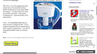 Alkaline Water Pitcher   The Best Alkaline Water Pitcher With Timer and BPA FREE   Awesome!