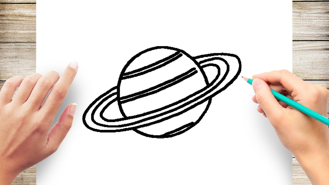 How to Draw Saturn Step by Step Easy