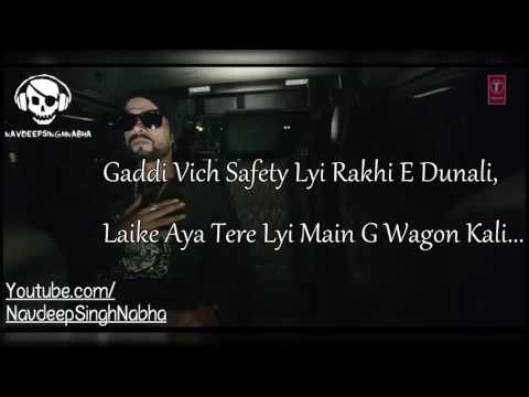 BOHEMIA - Lyrics of Only HD Rap in 'G Wagon' By