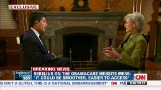 Part 1 of 2 - Dr. Sanjay Gupta Grills Sebelius Over Obamacare, Site Glitches, Resigning