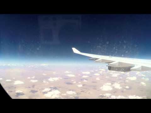 Germany to Ghana  Full flight timelapse