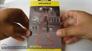 Bluetooth-Навушники Awei A920 BL black огляд