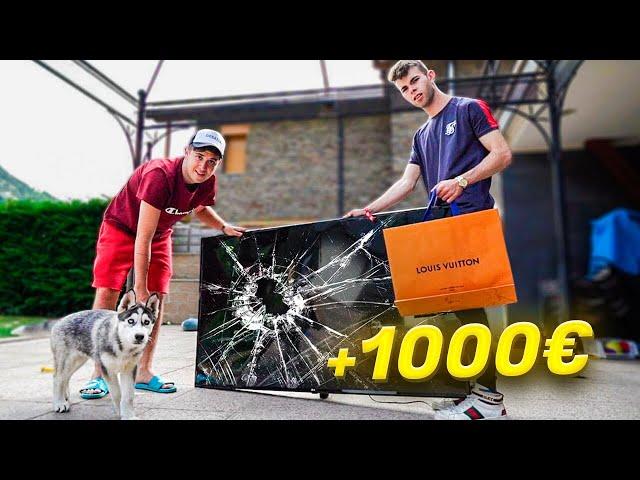 ROMPIENDO TODO LO QUE TOQUE MI PERRO!! **le rompo su television +1000€** [Shooter]