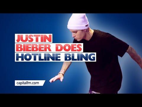 Justin Bieber DANCES TO Hotline Bling!