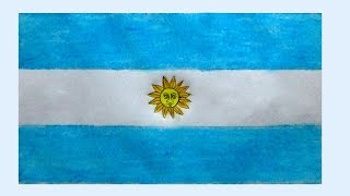Argentina flag | How to draw