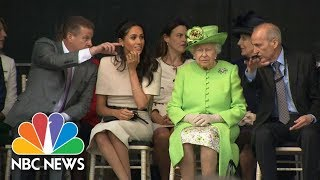 Meghan Markle Attends First Joint Royal Visit With The Queen | NBC News