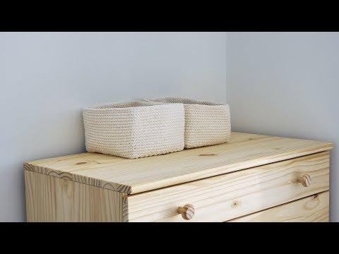 Прямоугольная коробка крючком