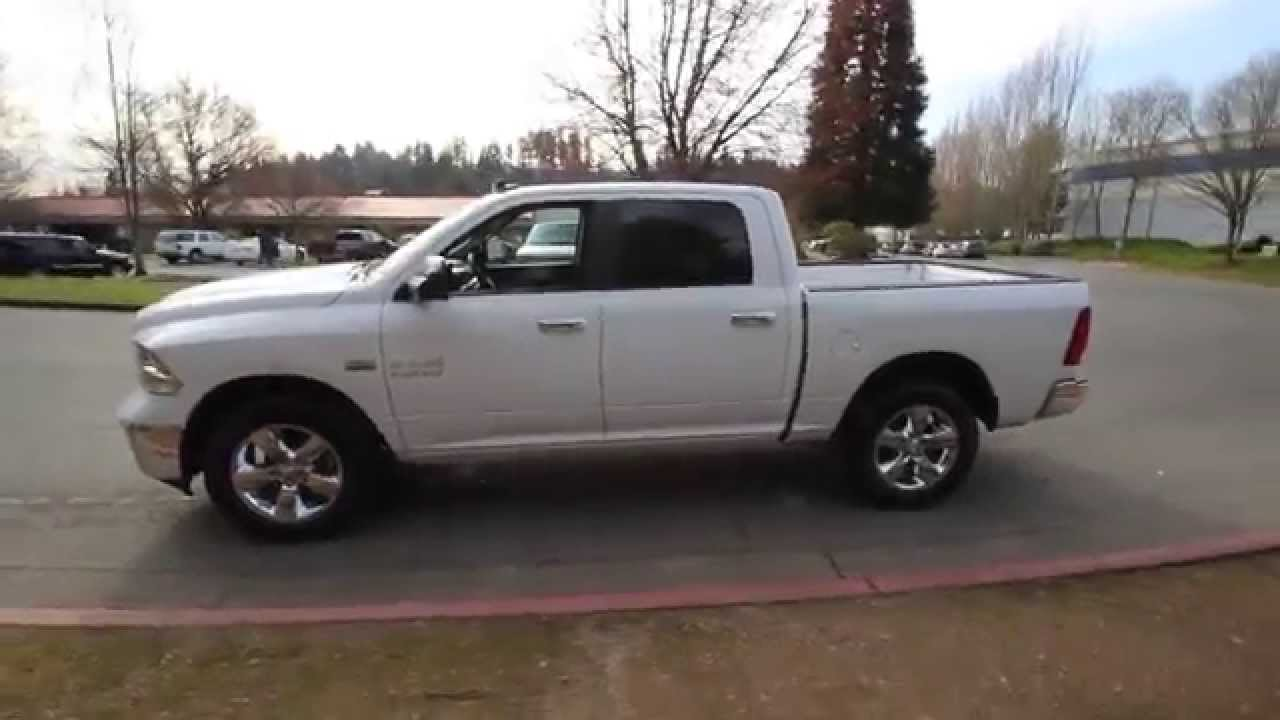 2015 dodge ram 1500 big horn crew cab white fg599092 redmond seattle youtube. Black Bedroom Furniture Sets. Home Design Ideas
