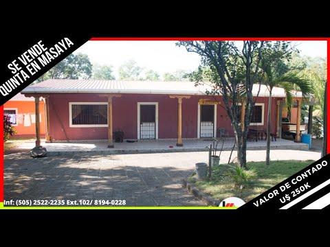 Venta De Casa - Quinta - Finca - Propiedad En Masaya.