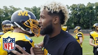 Odell Beckham Jr. Inspires the Munich Cowboys (German Football League) | OBJ Going Global | NFL