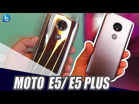 MOTO E5 | MOTO E5 PLUS | CONHECI OS DOIS SMARTPHONES COM BATERIA GIGANTE DA MOTOROLA!