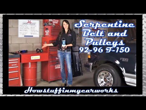 hqdefault 1992 to 1997 ford f150 serpentine belt and pulleys replacement youtube