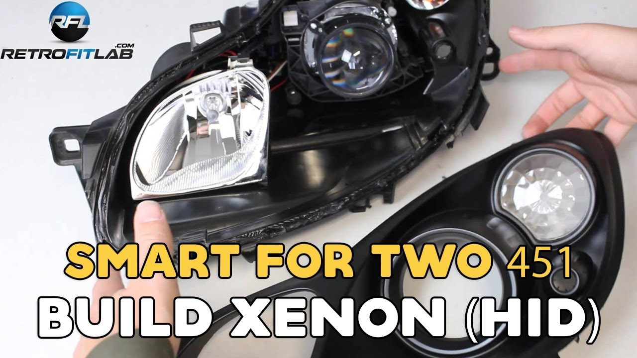 smart fortwo 451 2007 2014 how to build xenon hid in your headlight diy [ 1280 x 720 Pixel ]