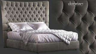 """№171. Modeling Bed """" DORELAN BRIGHTON """" Autodesk 3ds Max & marvelous designer"""