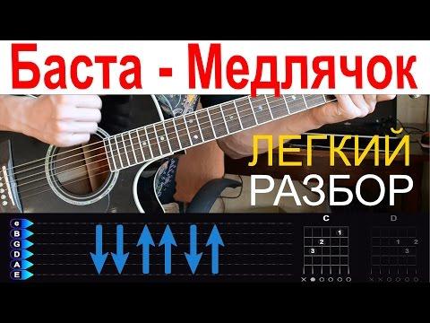 Баста - Выпускной Медлячок. Разбор на гитаре с табами