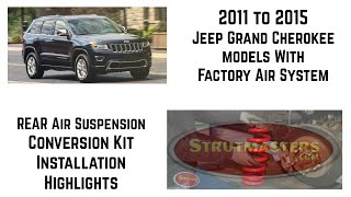 How To Replace The Rear Spring And Shock On A Jeep Grand Cherokee